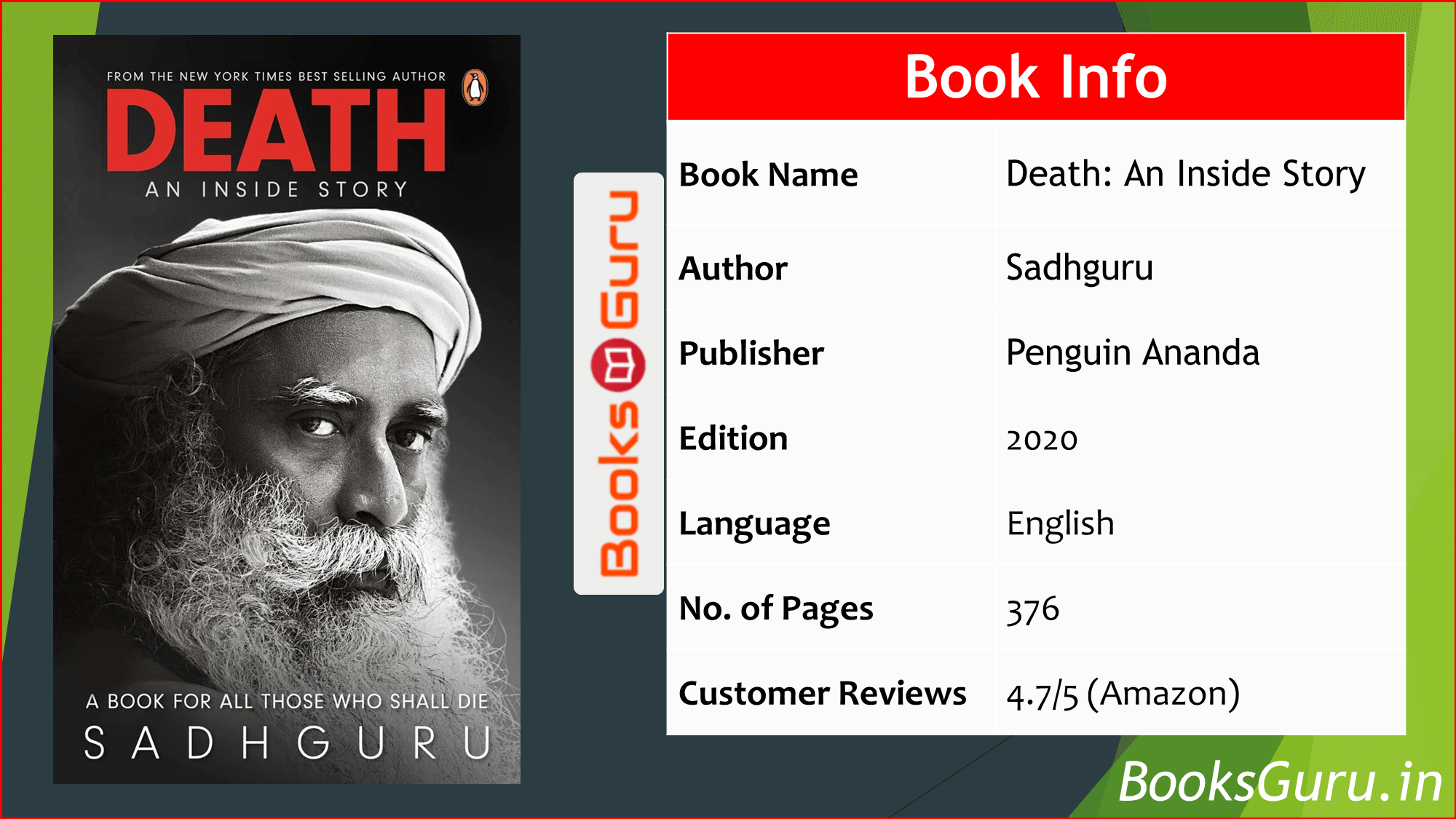 Pdf Download Death An Inside Story By Sadhguru Books Guru