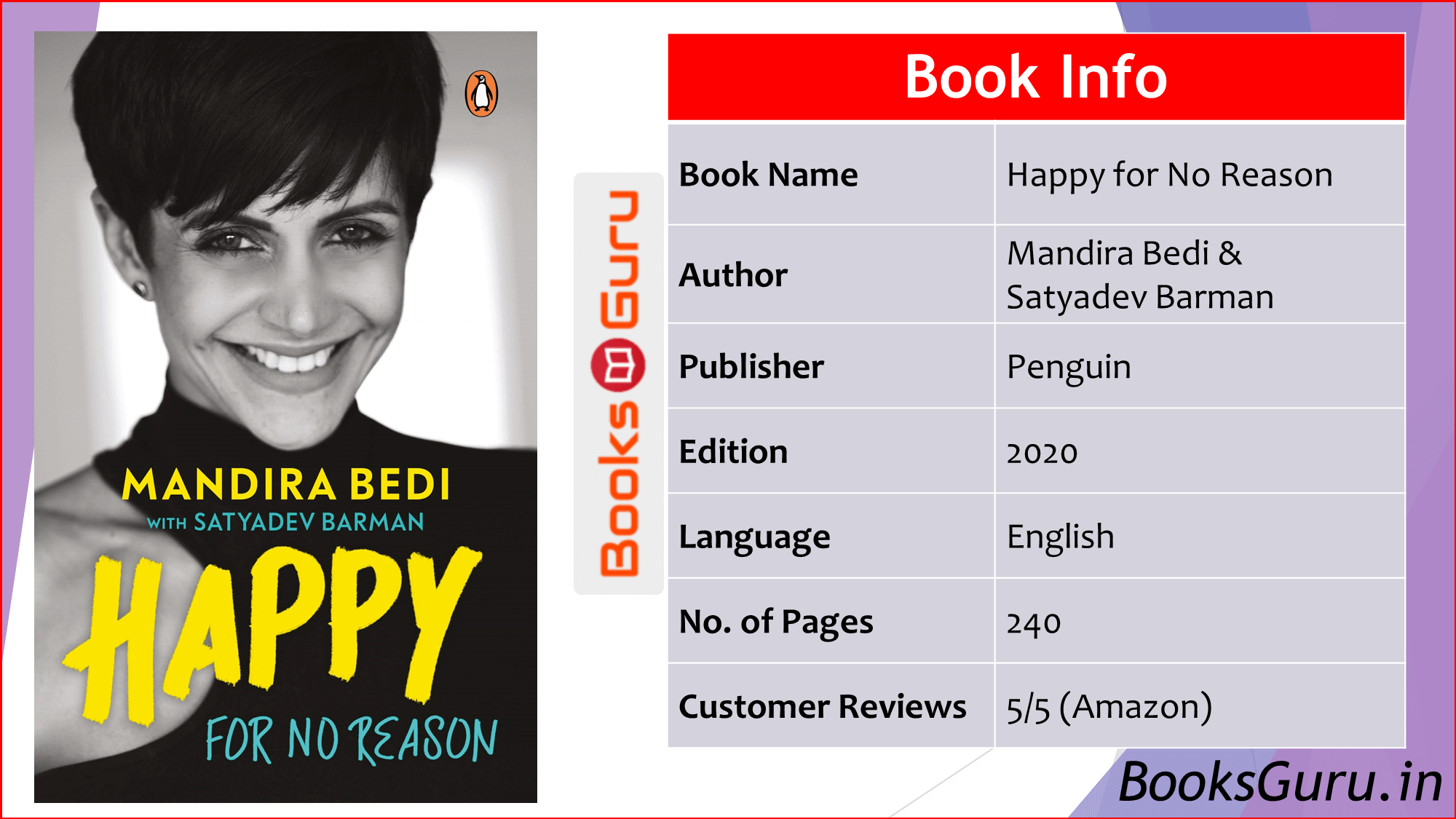 Happy for No Reason by Mandira Bedi Review